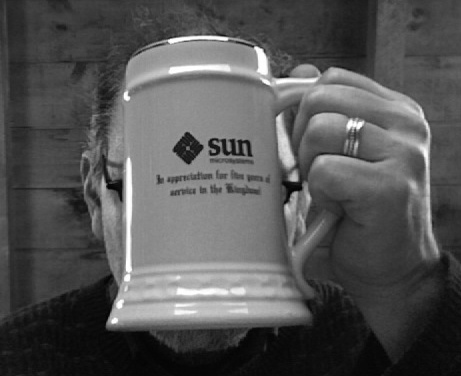photo of giant sun beer mug